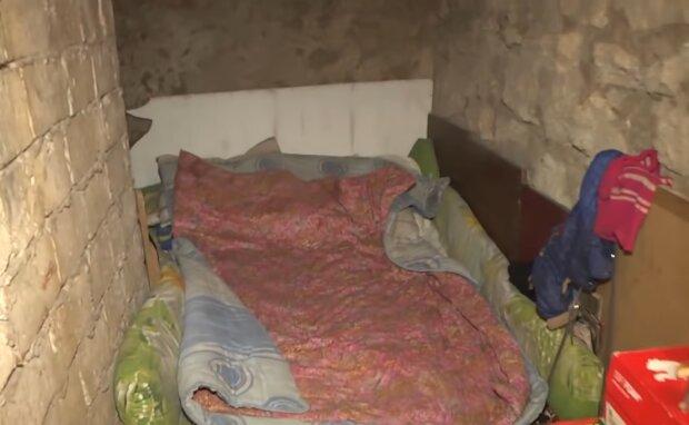 Keller wurde zu einem Zuhause. Quelle: Screenshot Youtube