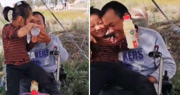 Seit zwei Jahren kümmert sich ein sechsjähriges Mädchen um seinen Vater, da die Mutter die Familie verlassen hat