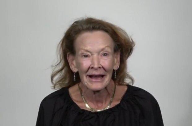 Linda vor der Verwandlung. Quelle: Screenshot Youtube