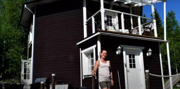 Der Traum wurde wahr: Eine Frau baute mit ihren eigenen Händen das Haus, von dem sie geträumt hatte