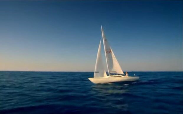 Steve Callahan im offenen Ozean. Quelle: Screenshot Youtube