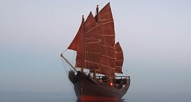 Chinesische Schiff. Quelle: YouTube Screenshot