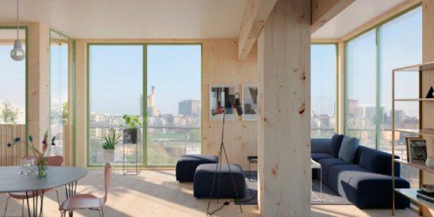In Berlin entsteht ein mehrstöckiges Wohnhaus aus Holz: Wie es aussehen wird