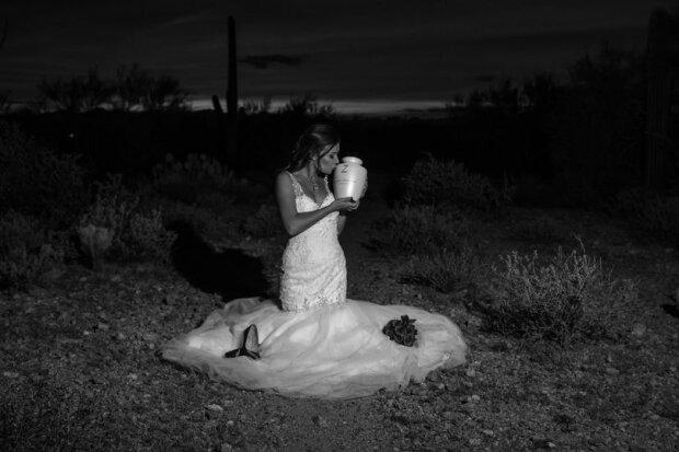 """""""Hochzeit, egal was"""": Nachdem der Bräutigam diese Welt verlassen hat, organisierte die Braut ein fabelhaftes Fotoshooting"""
