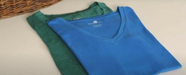 Hinweis für die Hausfrauen: Eine einfache Möglichkeit, ein T-Shirt in zwei Sekunden gleichmäßig zu falten