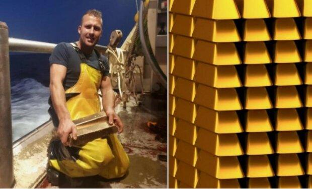 Wie ein niederländischer Fischer statt eines Fisches ein Stück Gold gefangen hat