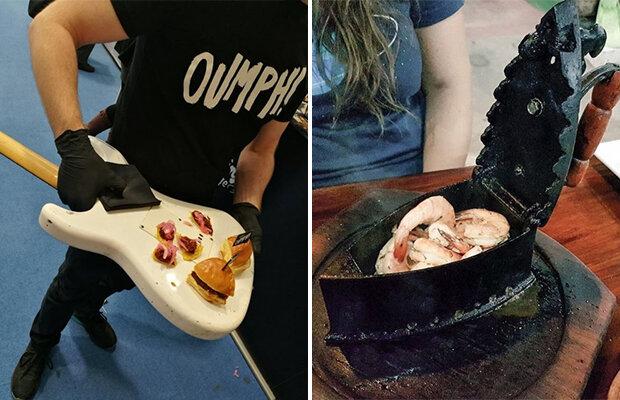 Kunst und Show: originelles Servieren der Gerichte in Restaurants