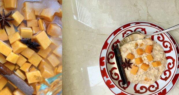 """Gourmet-Frühstück"": Haferflockenbrei mit süßem Kürbis"