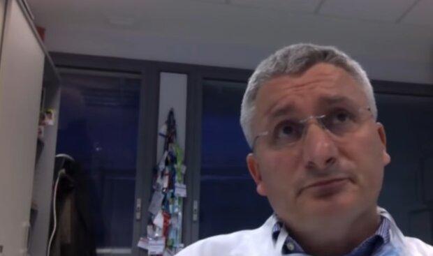 Italienischer Arzt über Francesco Lentini. Quelle: YouTube Screenshot.