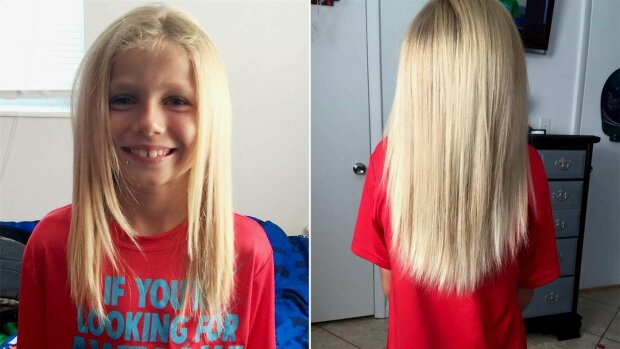 Echte Freundschaft: Der Junge ließ sich die Haare wachsen und machte sich lächerlich, um seinem Freund zu helfen