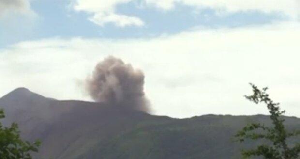 Wieder Natur: Vulkanausbruch in Nicaragua auf 60 Meter Höhe