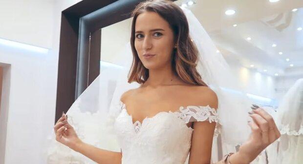 Junge Frau im Hochzeitskleid. Quelle: YouTube Screenshot