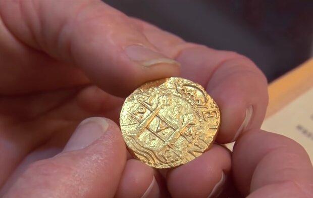 Eine sehr teure Münze. Quelle: YouTube Screenshot