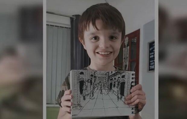 """""""Hervorragendes Gedächtnis"""": Der Junge malte mit hoher Genauigkeit auf Papier das, was er einmal gesehen hat"""