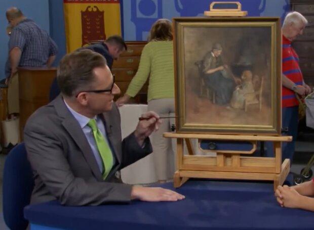 Mann kaufte ein antikes Gemälde für ein paar Pfennige. Quelle: Screenshot Youtube