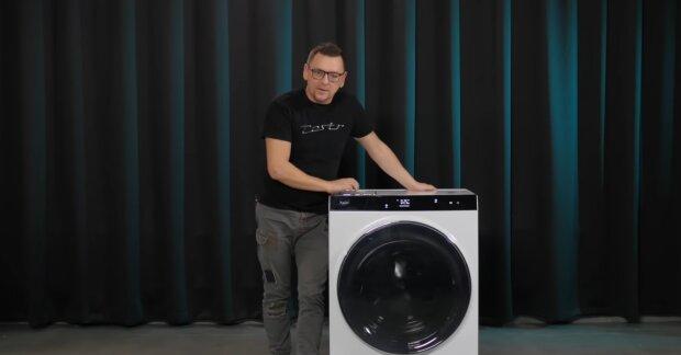 Neue Waschmaschine. Quelle: YouTube Screenshot