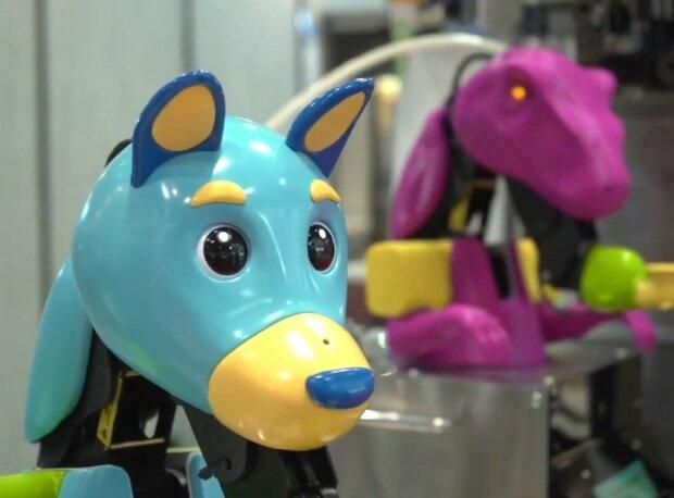 Wie Roboterhunde und Dinosaurier Eiscreme für Café-Besucher herstellen