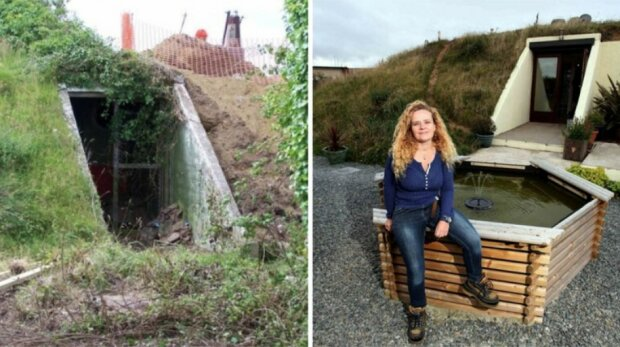 Eine Frau kaufte einen Bunker und machte daraus ein gemütliches Haus