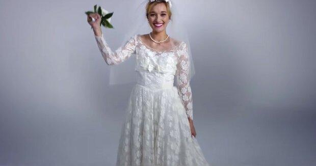 Ein Hochzeitskleid. Quelle: Youtube Screenshot