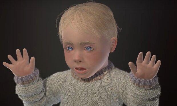 3D-Modell eines Kindes. Quelle: YouTube Screenshot