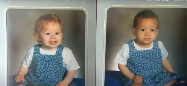Zwillinge mit unterschiedlicher Hautfarbe. Quelle: Youtube Screenshot