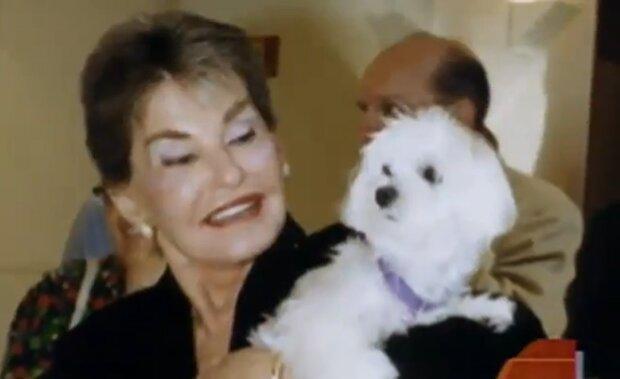 Leona Helmsley und ihr Hund Trouble. Quelle: Screenshot Youtube