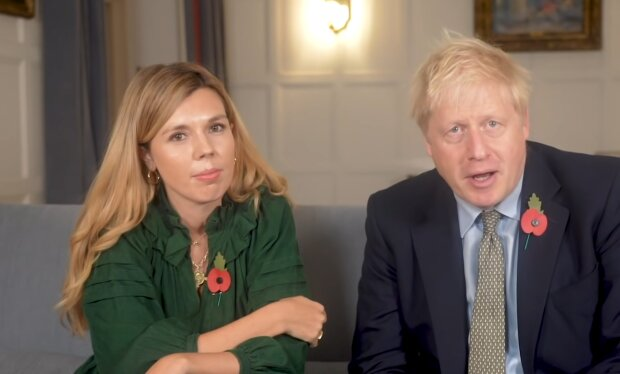 Boris und Carrie Johnson. Quelle: YouTube Screenshot