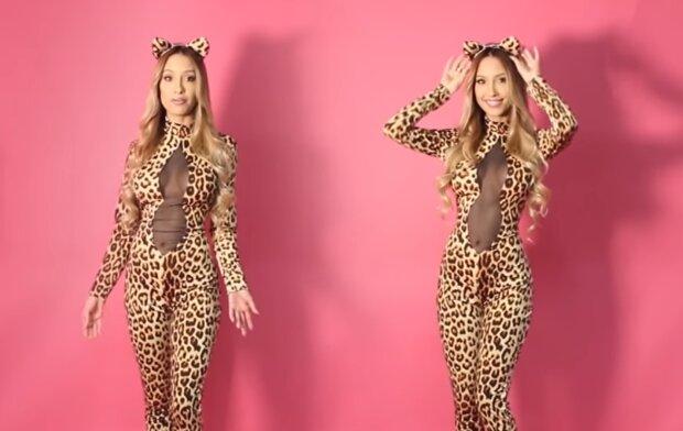 Leopardendame. Quelle: YouTube Screenshot