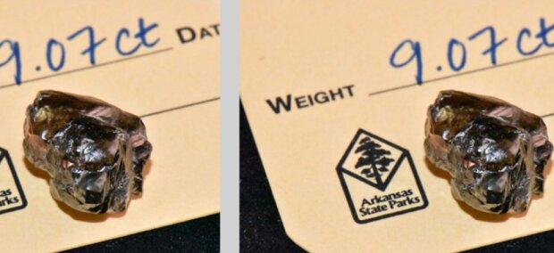 Ein Amerikaner fand im Park einen 9-karätigen Diamanten. Laut Gesetz wird er ihn behalten