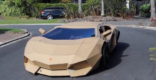 Das Supercar aus Pappe. Quelle: by.turbopages.org