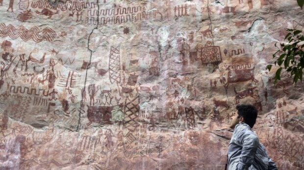 In Kolumbien fanden Wissenschaftler eine 13 Kilometer lange Wand mit Zeichnungen, die 1200 Jahre alt sind, Einzelheiten