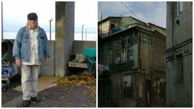Obdachloser und Slums . Quelle: Screenshot