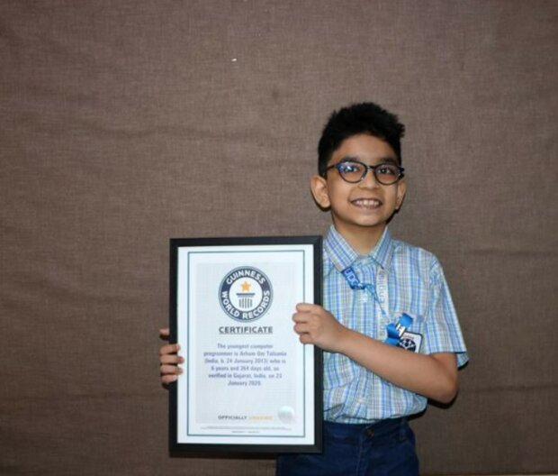 Das 6-jährige Genie wurde der jüngste Programmierer der Welt und gelang in das Guinness-Buch der Rekorde