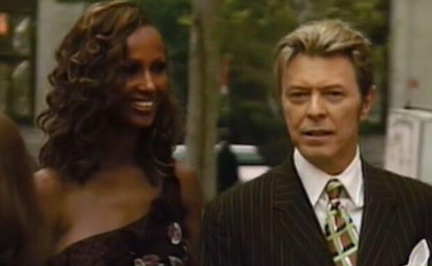 David Bowie und Iman. Quelle: YouTube Screenshot