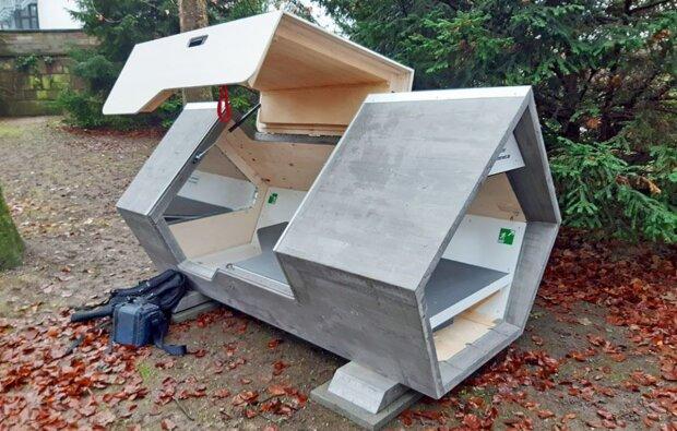 Deutschland hat autonome Kapseln mit Solarzellen für Obdachlose entwickelt, Details