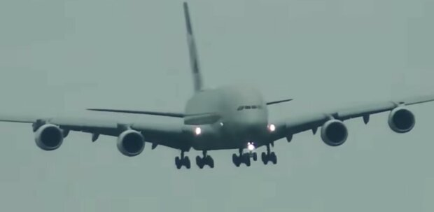 Das Flugzeug. Quelle: Youtube Screenshot