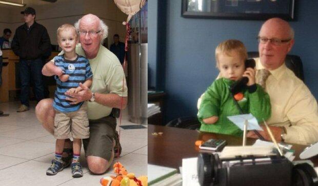 Kirk und sein Großvater. Quelle: YouTube Screenshot
