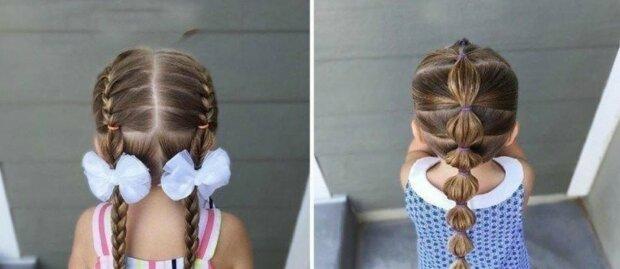Papa hat gelernt, wie er die Haare seiner Tochter auf ungewöhnliche Weise stylen kann und bringt es nun anderen bei