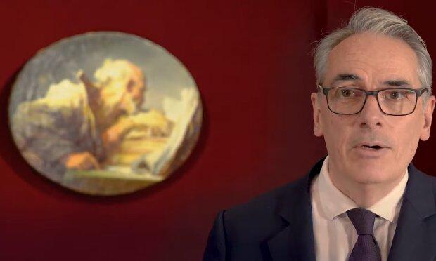 Lesender Philosoph und Expert. Quelle: YouTube Screenshot