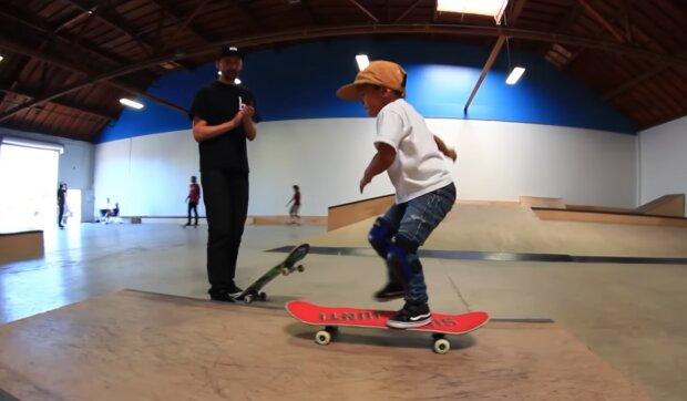Skater, 6 Jahre alt. Quelle: YouTube Screenshot