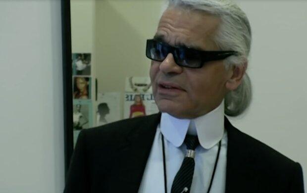 Karl Lagerfeld. Quelle: Screenshot YouTube