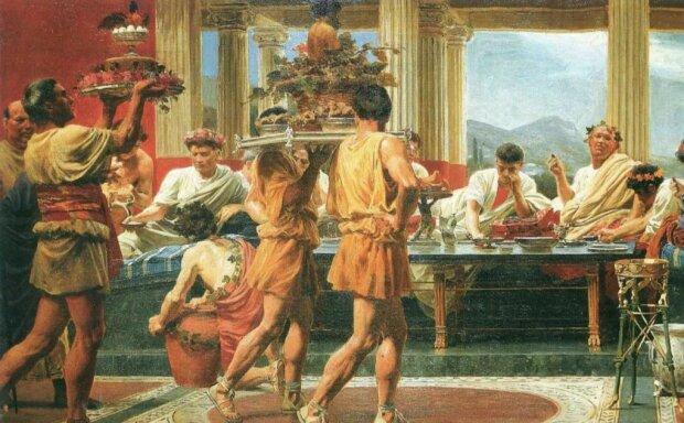 Warum haben die alten Römer lieber im Liegen gegessen