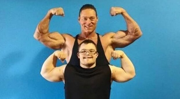 Der besondere Mann konnte sich verändern und an einem Bodybuilding-Wettbewerb teilnehmen