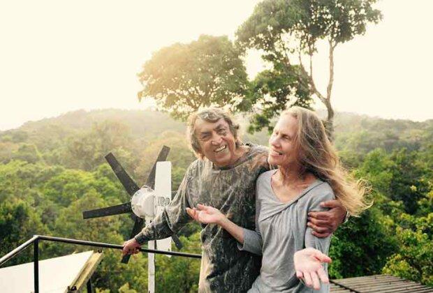 Um die Umwelt zu retten: Die Ehepartner haben eine riesige Reserve angelegt, um dem Planeten zu helfen