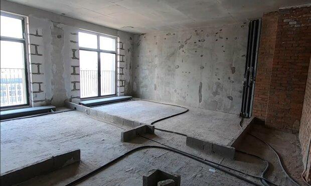 Wohnung vor der Renovierung. Quelle: Youtube Screenshot