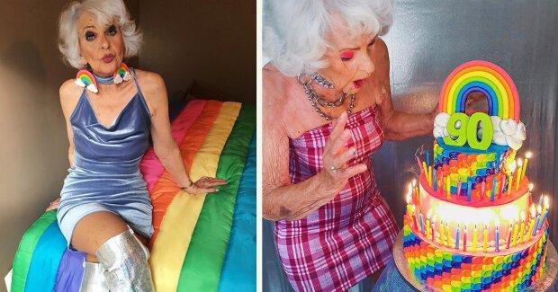 Star im Alter von 90 Jahren: die Geschichte von Buddy Winkle, der mit Stil und Farbe experimentiert