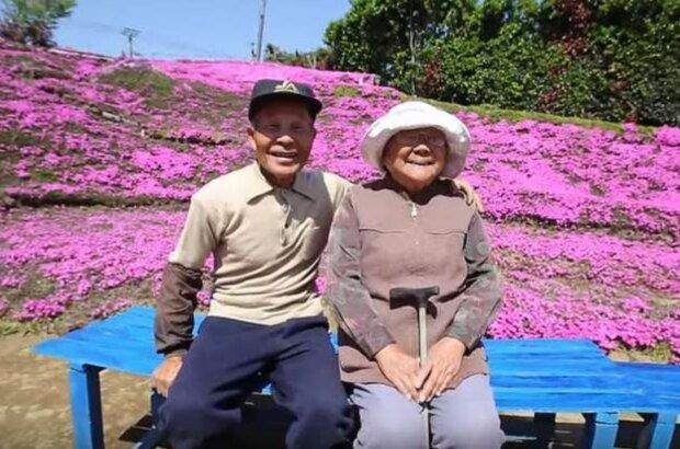 Ein liebender Ehemann verwandelte 2 Jahre lang das Feld in ein Blumenbeet, um seine Frau mit ihr Lächeln wieder sehen zu können