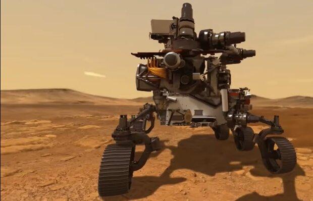 Marsrover. Quelle: YouTube Screenshot