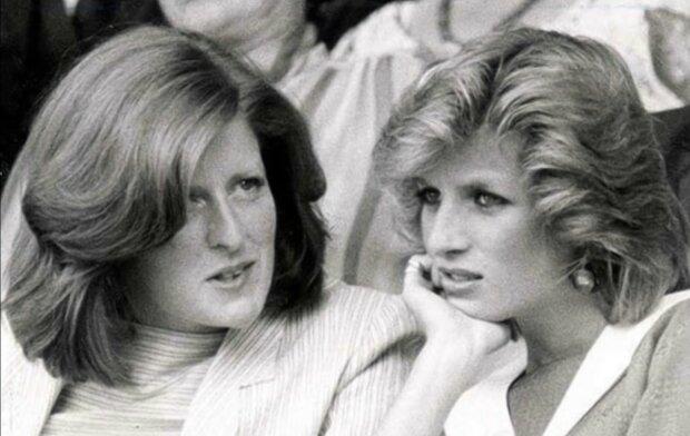 Diana mit ihrer älteren Schwester beim königlichen Empfang. Quelle: Screenshot YouTube