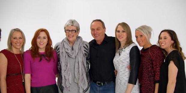 Die erste Familie der Welt, die sechs Zwillingsschwestern zur Welt gebracht hat: Wie es den Mädchen 37 Jahre später geht
